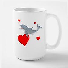 Valentine Dolphin Large Mug
