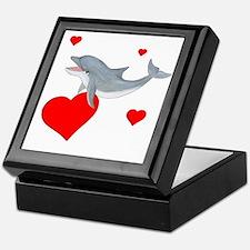 Valentine Dolphin Keepsake Box