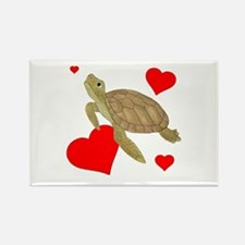 Valentine Turtle Rectangle Magnet (10 pack)