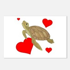 Valentine Turtle Postcards (Package of 8)