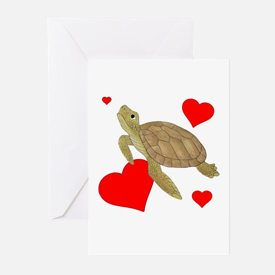 Valentine Turtle Greeting Cards (Pk of 20)