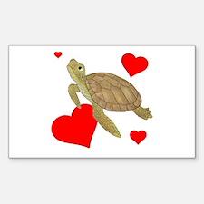 Valentine Turtle Decal
