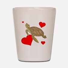 Valentine Turtle Shot Glass