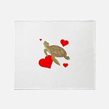 Valentine Turtle Throw Blanket