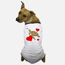 Valentine Turtle Dog T-Shirt
