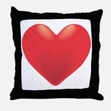 Single Red Heart Throw Pillow