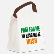 Pray Husband Irish Canvas Lunch Bag