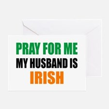 Pray Husband Irish Greeting Card