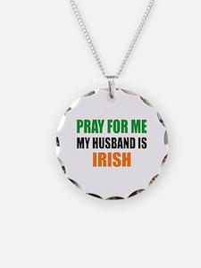 Pray Husband Irish Necklace Circle Charm