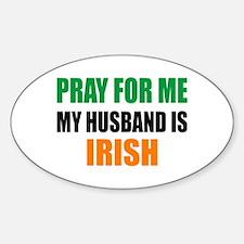 Pray Husband Irish Decal