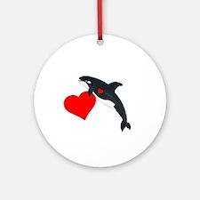 Valentine Whale Ornament (Round)