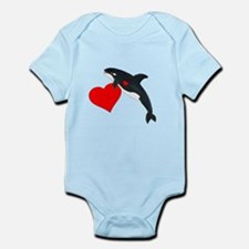 Valentine Whale Infant Bodysuit