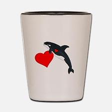 Valentine Whale Shot Glass