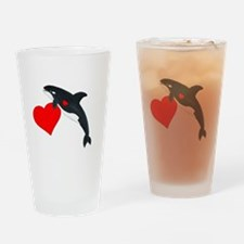 Valentine Whale Drinking Glass