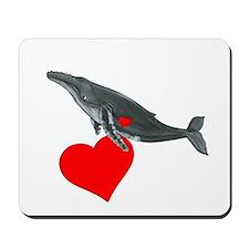 Humpback Whale Valentine Mousepad