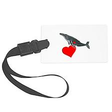 Humpback Whale Valentine Luggage Tag