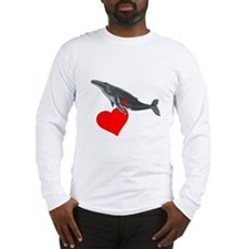 Humpback Whale Valentine Long Sleeve T-Shirt