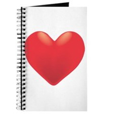 Single Red Heart Journal