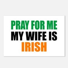 Pray Wife Irish Postcards (Package of 8)