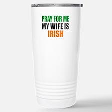 Pray Wife Irish Travel Mug