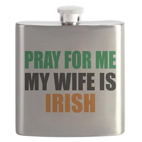 Pray Wife Irish Flask
