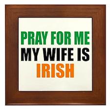 Pray Wife Irish Framed Tile