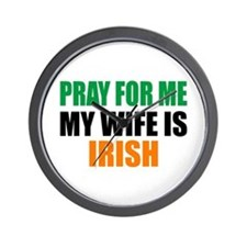 Pray Wife Irish Wall Clock