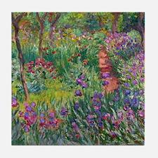 Giverny Iris Garden Tile Coaster
