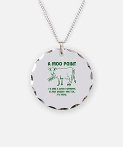 A Moo Point Necklace Circle Charm