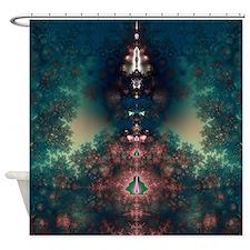 Green Fairy Tale Shower Curtain