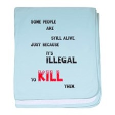 Some people are still alive, ... baby blanket