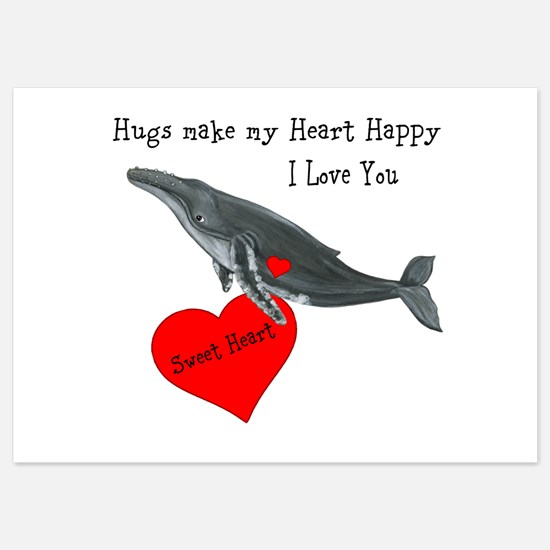 Personalized Whale 5x7 Flat Cards