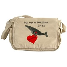 Personalized Whale Messenger Bag