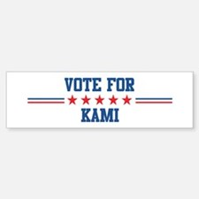 Vote for KAMI Bumper Bumper Bumper Sticker