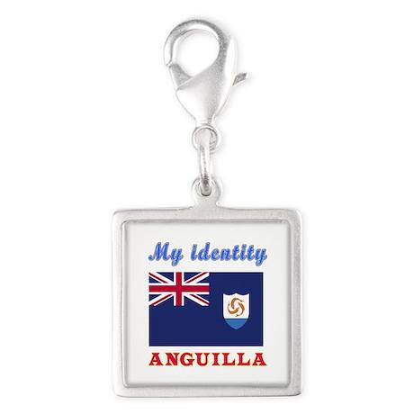 My Identity Anguilla Silver Square Charm