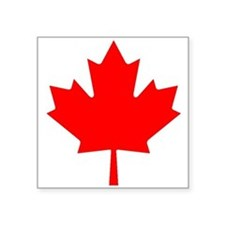 Maple Leaf Oval Sticker