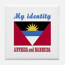My Identity Antigua And Barbuda Tile Coaster