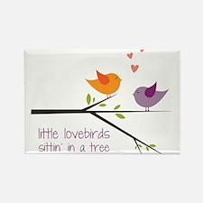 Little Lovebirds Rectangle Magnet