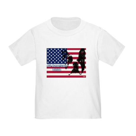 All American Pride, Boston Terrier Toddler T-Shirt