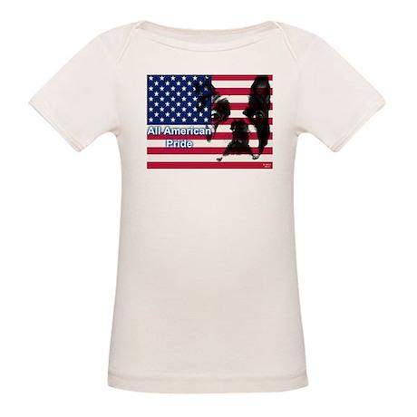 All American Pride, Boston Terrier Organic Baby T-