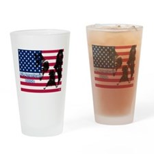 All American Pride, Boston Terrier Drinking Glass