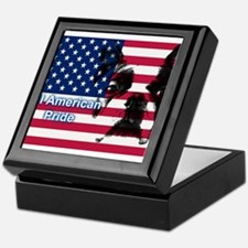 All American Pride, Boston Terrier Keepsake Box