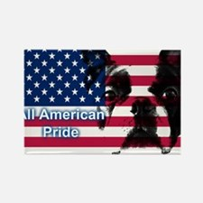 All American Pride, Boston Terrier Rectangle Magne