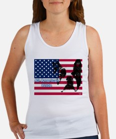 All American Pride, Boston Terrier Women's Tank To