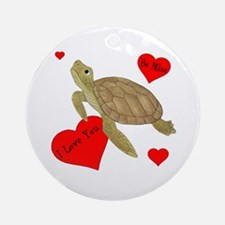 Personalized Turtle Ornament (Round)
