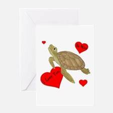 Personalized Turtle Greeting Card