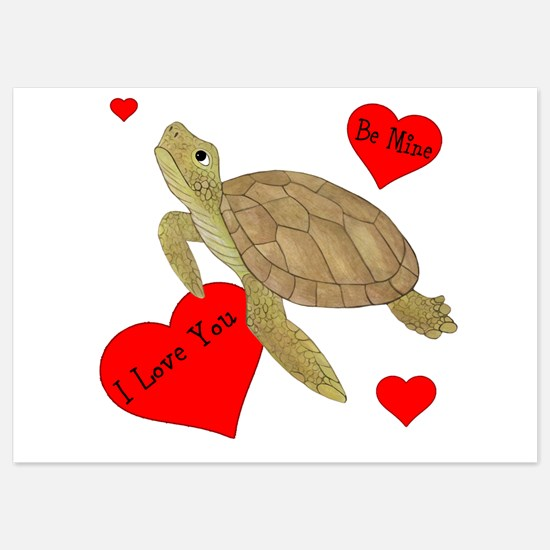 Personalized Turtle 5x7 Flat Cards