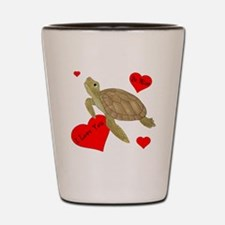 Personalized Turtle Shot Glass