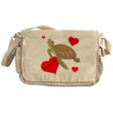 Personalized Turtle Messenger Bag
