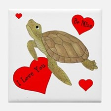 Personalized Turtle Tile Coaster